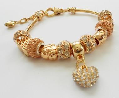 Gold plated bracelet.