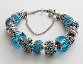 Blue accents woman Bracelet bangle.