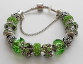 Green color accents woman Bracelet bangle.