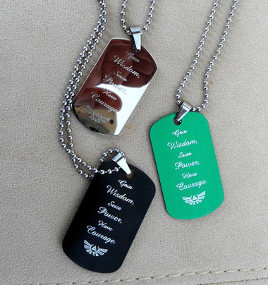 The Legend of Zelda Personalized Dog tags with ball chine.