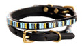bolo pet collar - black leather