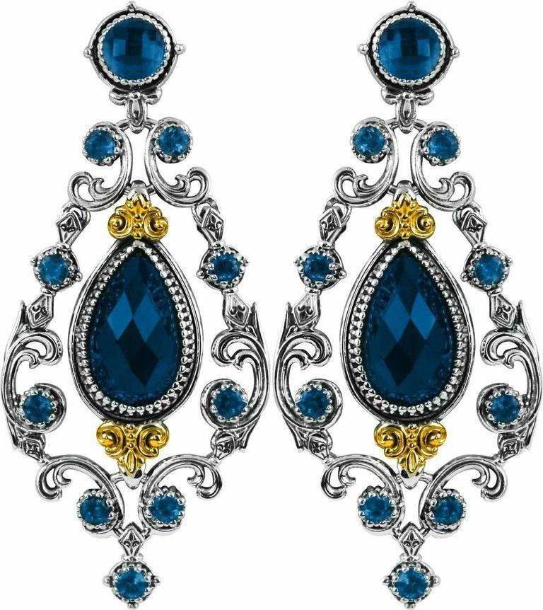 konstantino london blue topaz earrings skmk3047 298. Black Bedroom Furniture Sets. Home Design Ideas