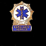 STAR OF LIFE AMBULANCE SERVICE LAPEL PIN - PN-1906