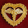CADUECES FILIGREED ELBLEM PIN - GPE-1010