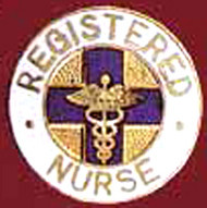 RN HEAD NURSE EMBLEM PIN - GPE-1031