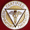 CERTIFIED RESPIRATORY THERAPIST EMBLEM PIN - GPE-1036