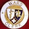WARD CLERK EMBLEM PIN - GPE-1014