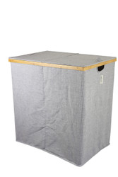 Twill Double Sorting Bamboo Laundry Hamper