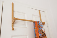 Over-the-door towel rack with hooks (For bedrooms or bathrooms)