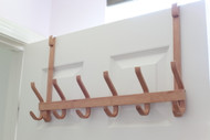 Modern Over-The-Door Bamboo Six Hooks (6-HOOK)