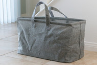 "Grey Twill Boat Nursery and Laundry Tote - 22"" x 11"" x 13.5"" h"