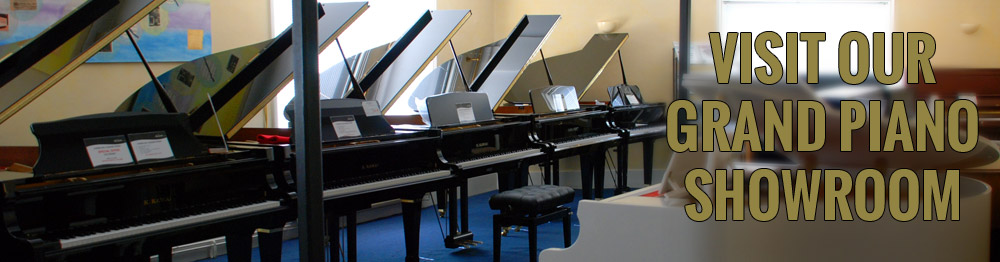 Visit our grand piano showroom