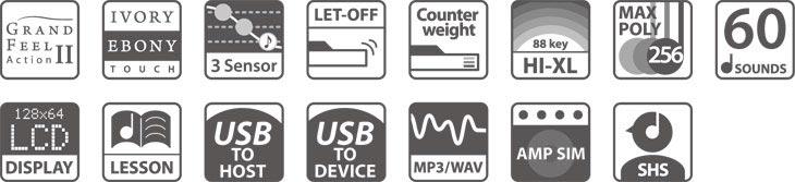 Kawai CS8 Digital Piano Features
