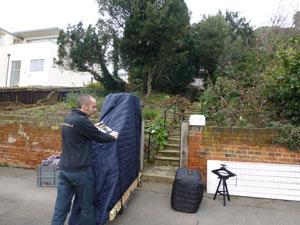 Kawai GM10 grand piano delivery to 1st floor Wimbledon