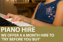Try before you buy with our 6 month piano hire