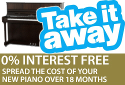 Spread the cost of your new piano into easier monthly payments