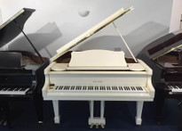 "Reid Sohn SIG48 4'8"" White Grand Piano"