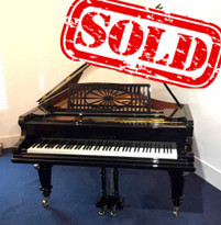 "C. Bechstein Model V Totally Restored Black 6'7"" Grand Piano"