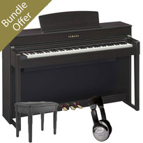 Yamaha CLP635 Clavinova Digital Piano Bundle