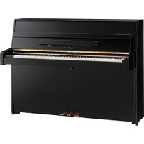 Kawai K15E upright piano in black polish