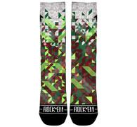 Rock 'Em Fractal Dazzle Xmas Socks