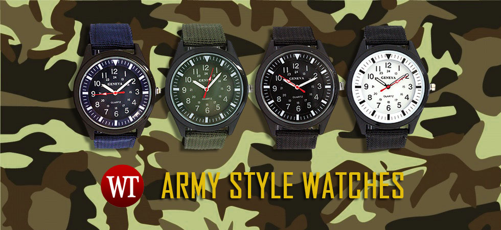 Army style watches