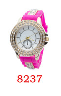 8237 Ladies Silicone Bullet band Watch