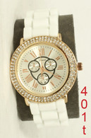 401T Geneva ladies silicone band watch