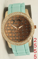 2555 Geneva ladies silicone band watch