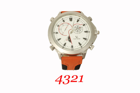 V8 Super Speed Two color Leather Band watch.