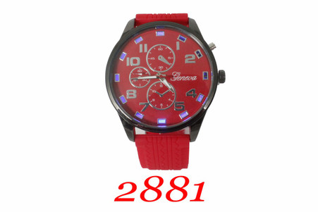 Geneva Light-Up Men's Silicone Band Watch