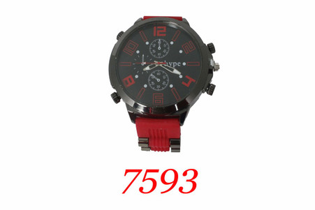 Hype Men's Silicone Bullet Band Watch
