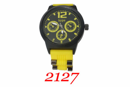 Hype. Men's Silicone Bullet Band Watch