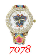 7078 Ladies Pull String Band Watch