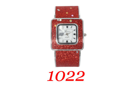 Geneva, Ladies Glitter Bangle Watch