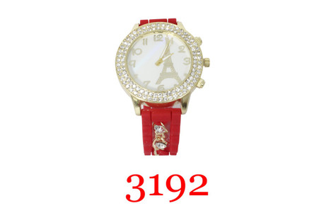 3192 Silicone Chain Band Watch