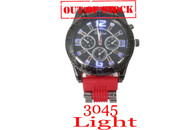 3045 Men's Lights-Up Silicone Bullet Band Watch