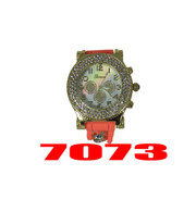 7073 Ladies Geneva Silicone Chain Watch
