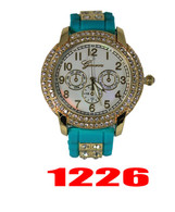 1226 Ladies Geneva Silicone Bullet Band Watch