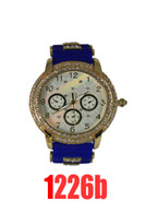 1226b Ladies Quartz Silicone Bullet Band Watch