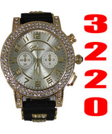 3220 Ladies Geneva Silicone Bullet Band Watch