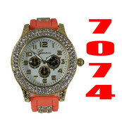 7074 Ladies Silicone Bullet Band Watch