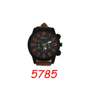 5785 Men's Leather Band Watch
