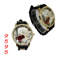 9595 Ladies Silicone Chain Band Watch