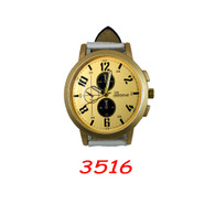 3516 Mens Leather Band Watch