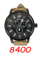 8400 Mens Leather Band Watch