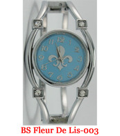 BS Fleur De Lis-003 Ladies Bangle Watch