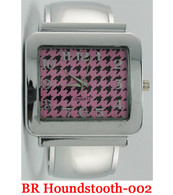 Quarts BR Houndstooth-002 Ladies Bangle Watch