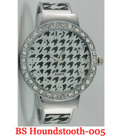 Quarts BS Houndstooth-005 Ladies Bangle Watch