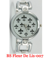 BS Fleur De Lis-007 Ladies Bangle Watch